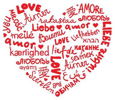 Herz-Liebe versch. Sprachen